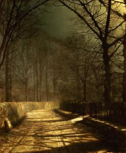 A-Moonlit-Lane-with-two-lovers-by-a-gate-xx-John-Atkinson-Grimshaw